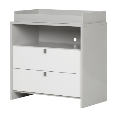 Cookie Changing Table (Soft Gray and Pure White)